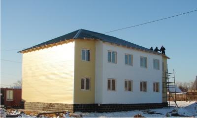 Многоквартирный жилой дом из сэндвич-панелей в г.Карасук