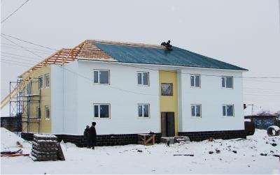 Многоквартирные жилые дома из  сэндвич-панелей в г.Купино