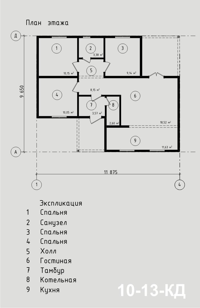 """Проект дома из СИП-панелей 77,2 м2. Компания """"Авантаж"""" г.Новосибирск"""