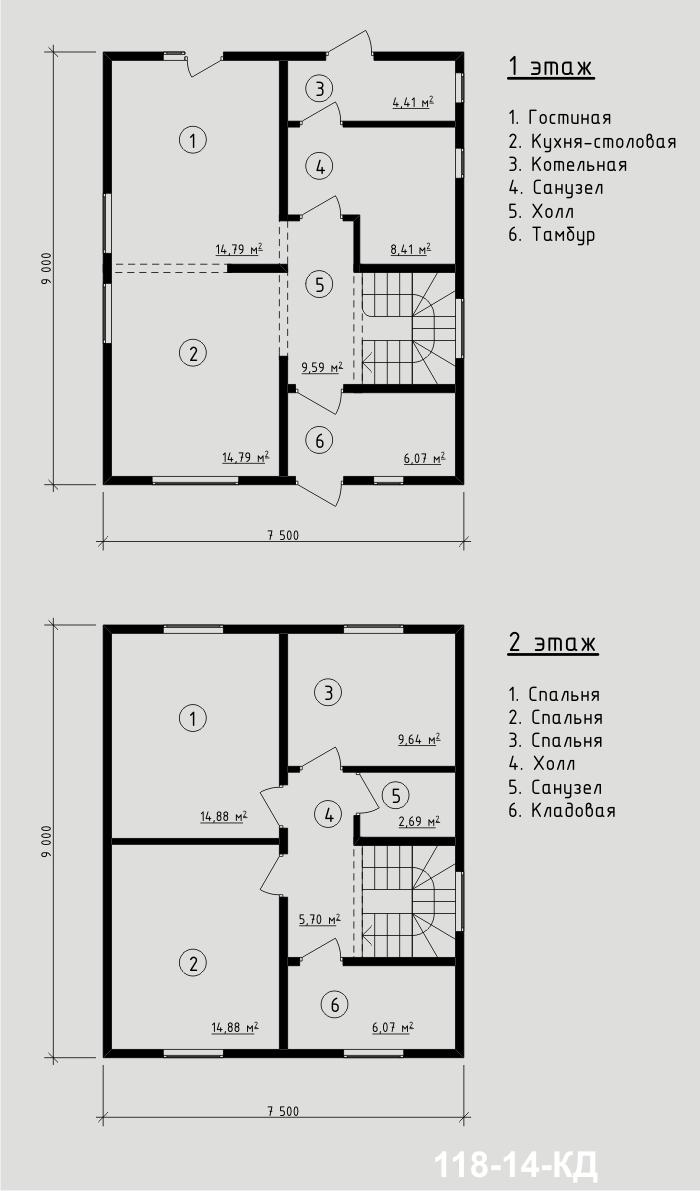 """Проект дома из sip-панелей 111,92 м2. Компания """"Авантаж"""", г.Новосибирск."""