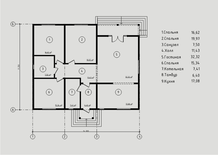 """Проект дома из СИП-панелей 134м2. Компания """"Авантаж"""" г.Новосибирск"""
