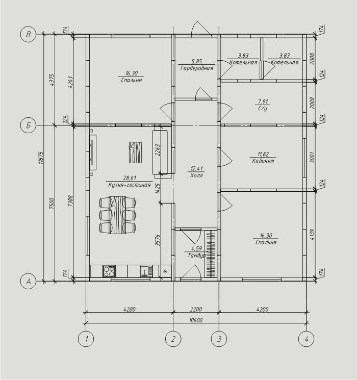 """Проект дома из SIP-панелей 111,45м2. Компания """"Авантаж"""", г.Новосибирск."""