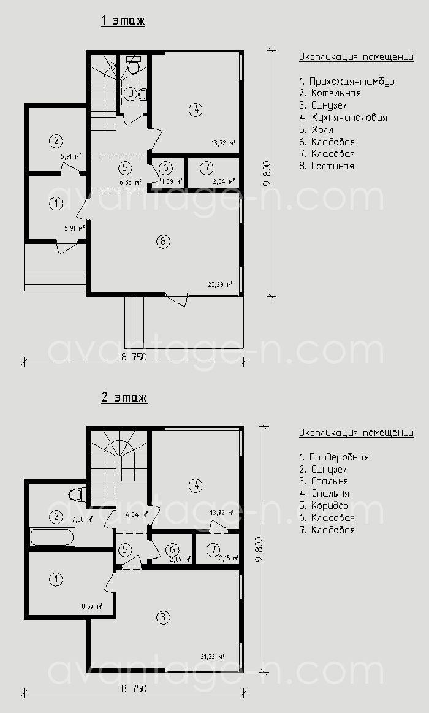 """Проект дома из сип-панелей 125м2. Компания """"Авантаж"""" г.Новосибирск"""