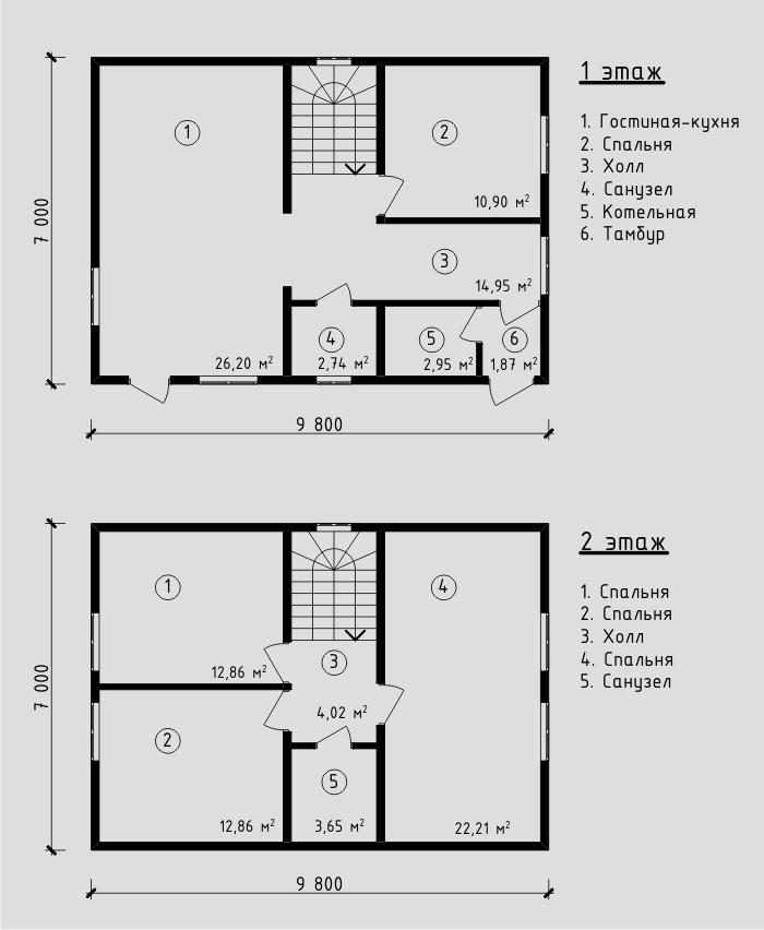 """Проект дома из СИП-панелей 115,21 м2. Компания """"Авантаж"""" г.Новосибирск"""