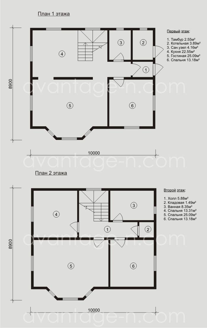 """Дом из сэндвич-панелей 140 кв.м , изготовленный компанией """"Авантаж""""."""