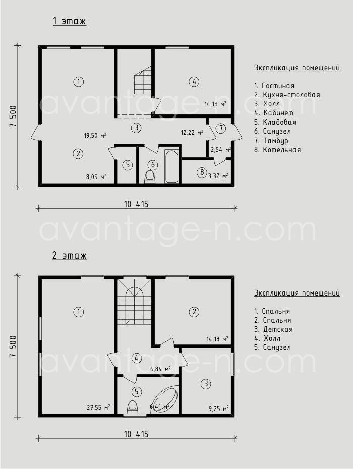 """Проект жилого дома из СИП панелей. Компания """"Авантаж"""" г.Новосибирск"""