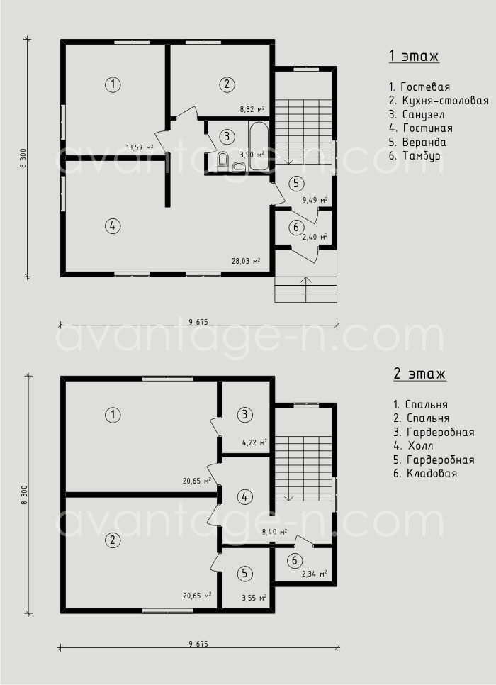 """Проект дома из СИП панелей 133,0 м2. Компания """"Авантаж"""", г.Новосибирск."""