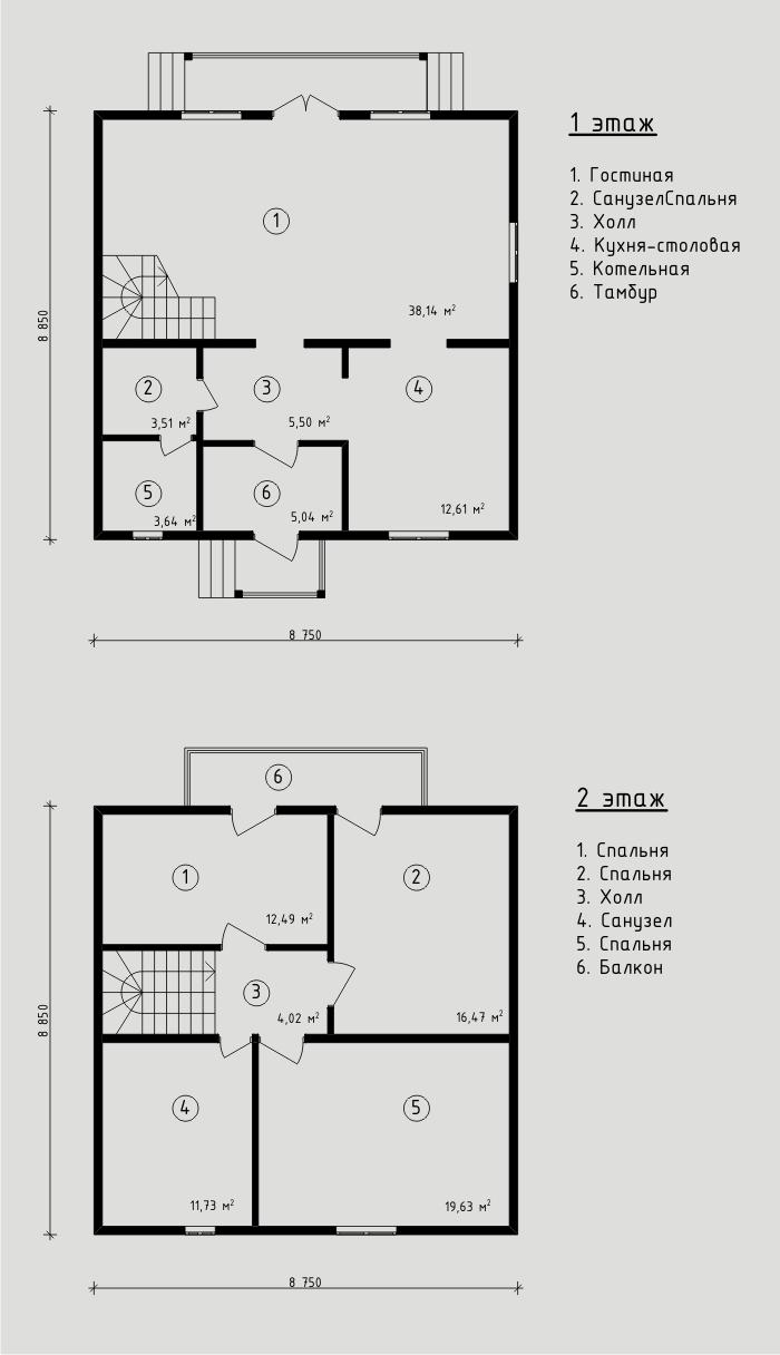 """Проект жилого дома из СИП панелей 138,8 м2. Компания """"Авантаж"""", г.Новосибирск."""