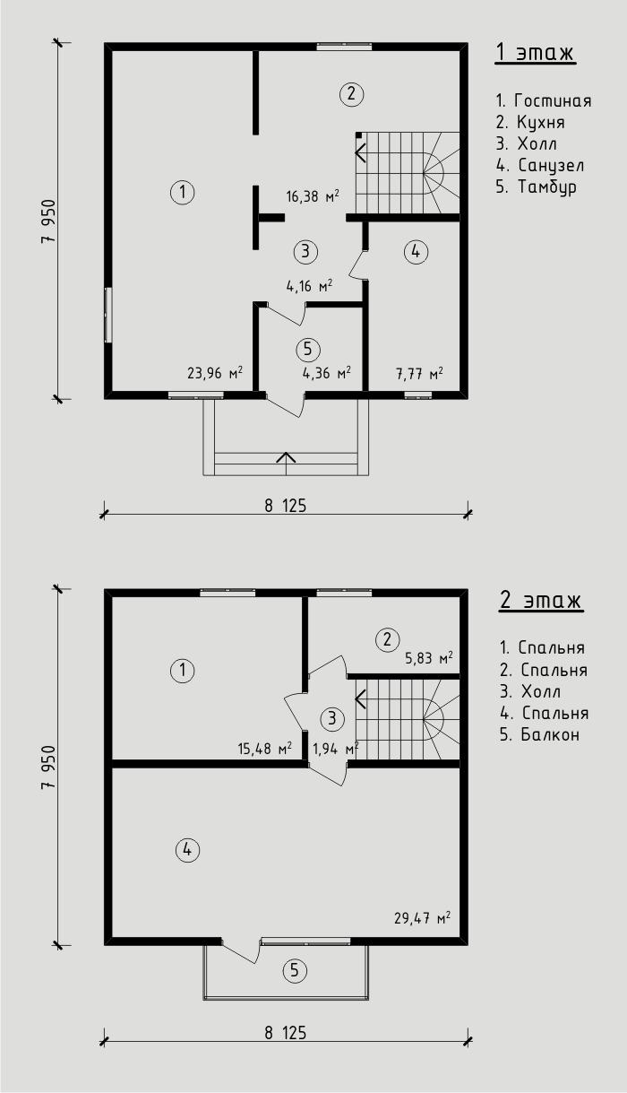 """Проект дома из СИП-панелей 108,9 м2. Компания """"Авантаж"""" г.Новосибирск"""