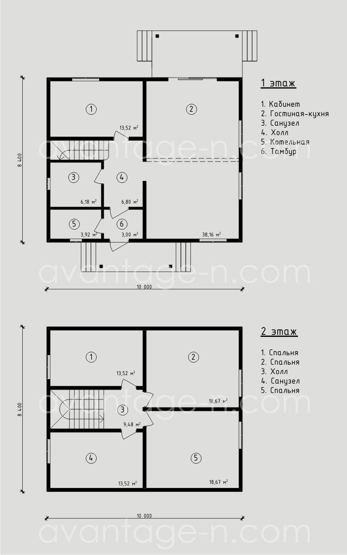 """Проект дома из СИП-панелей 145,45м2. Компания """"Авантаж"""" г.Новосибирск"""