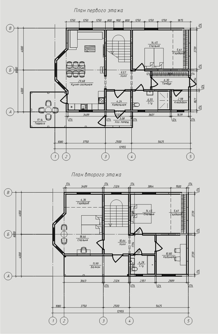 """Проект дома из sip-панелей 151,26 м2. Компания """"Авантаж"""", г.Новосибирск."""
