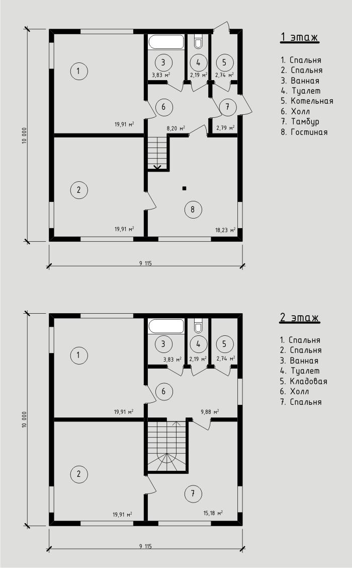"""Проект дома из sip-панелей 151,43 м2. Компания """"Авантаж"""", г.Новосибирск."""