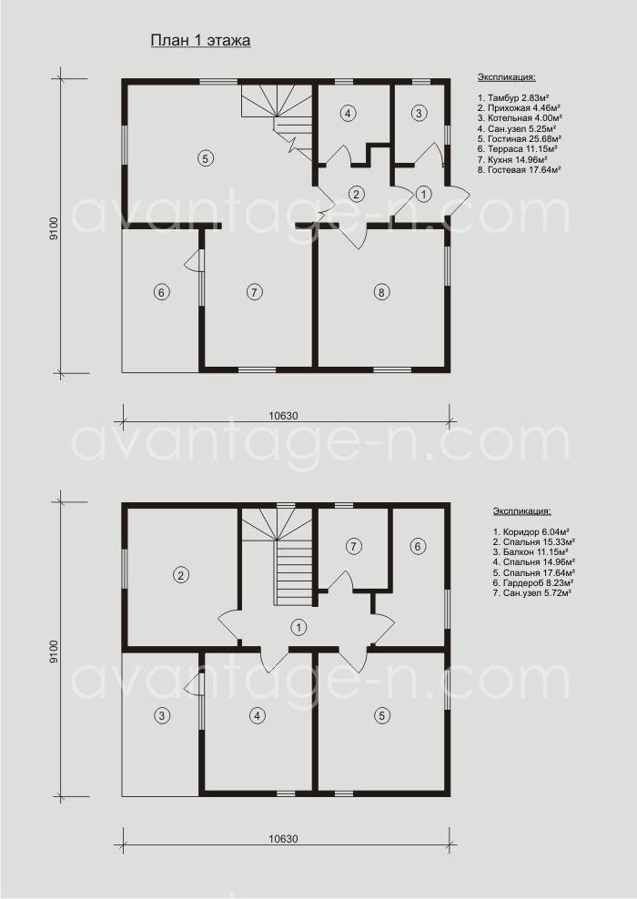 """Проект дома из сэндвич-панелей 165 кв.м выполненный компанией """"Авантаж"""" г.Новосибирск"""