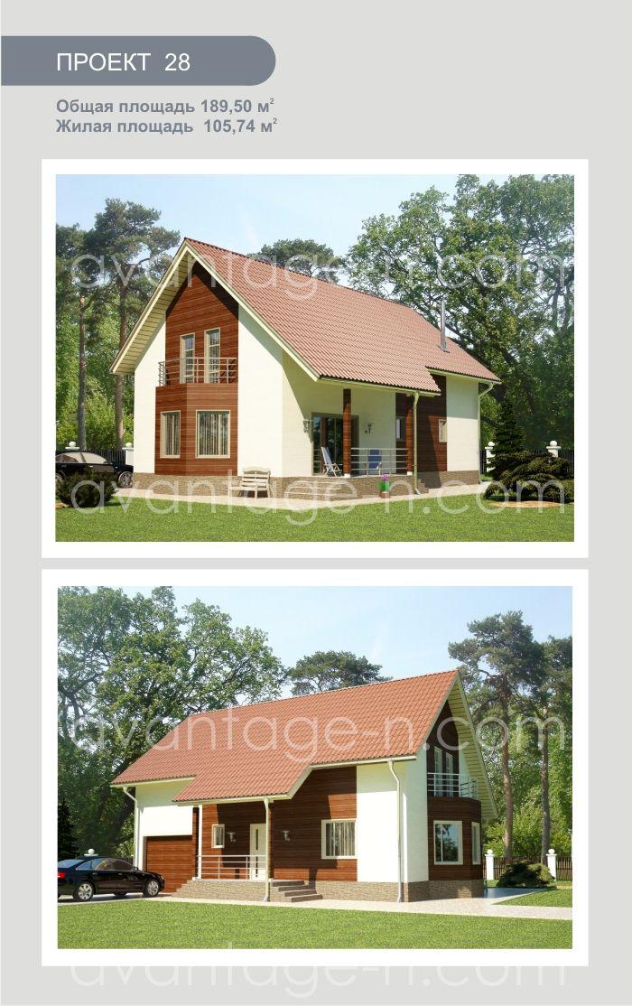 """Дом из СИП панелей 189,5 м2. Компания """"Авантаж"""", г.Новосибирск."""