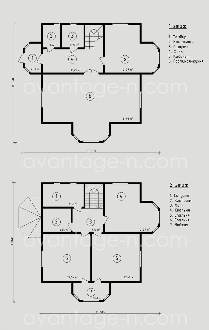 """Проект жилого дома из СИП-панелей 199,5м2. Компания """"Авантаж"""", г.Новосибирск"""