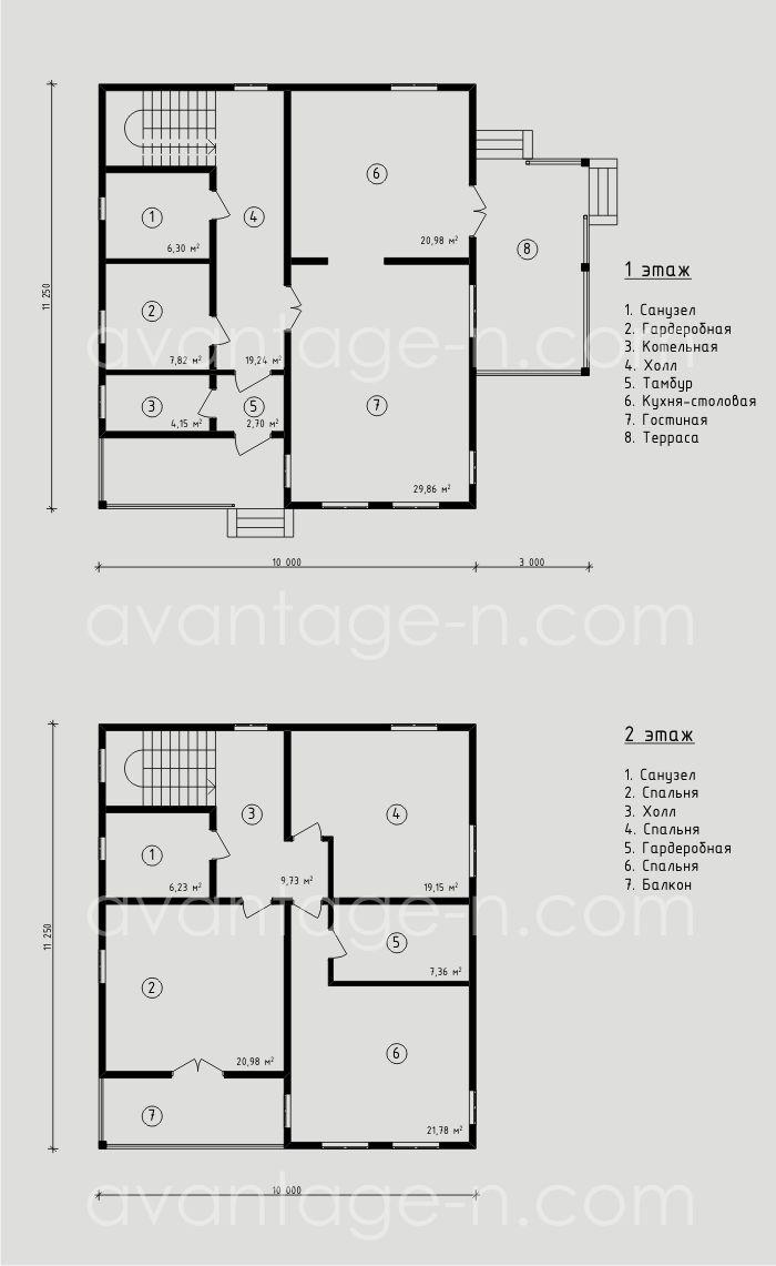 """Проект дома из СИП-панелей 176,28м2. Компания """"Авантаж"""" г.Новосибирск"""