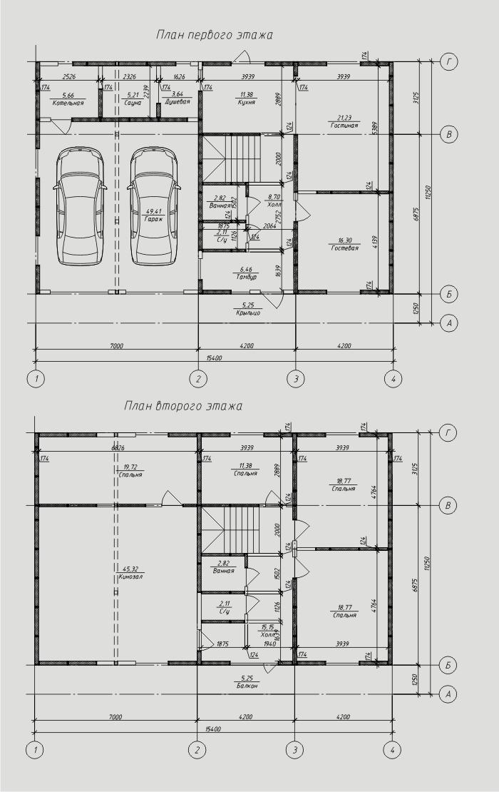 """Проект дома из СИП-панелей 266,96 м2. Компания """"Авантаж"""", г.Новосибирск."""
