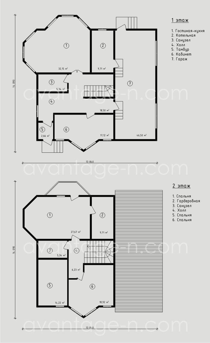 """Проект жилого дома из СИП панелей 214,5 м2. Компания """"Авантаж"""", г.Новосибирск"""