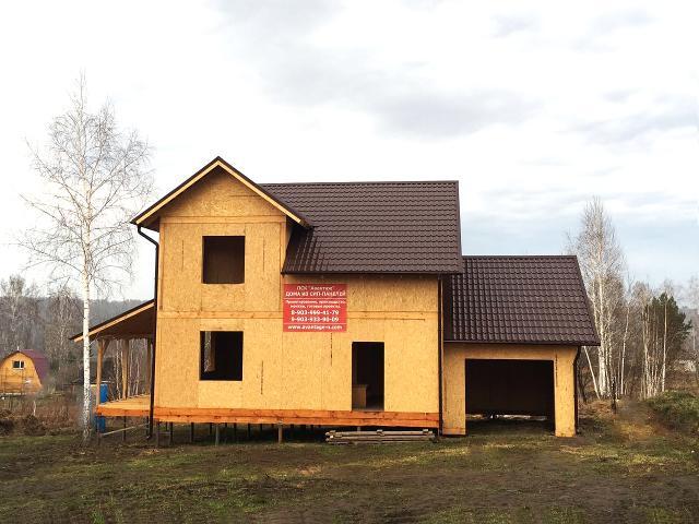 """Жилой дом из СИП-панелей. Компания """"Авантаж"""", г.Новосибирск"""