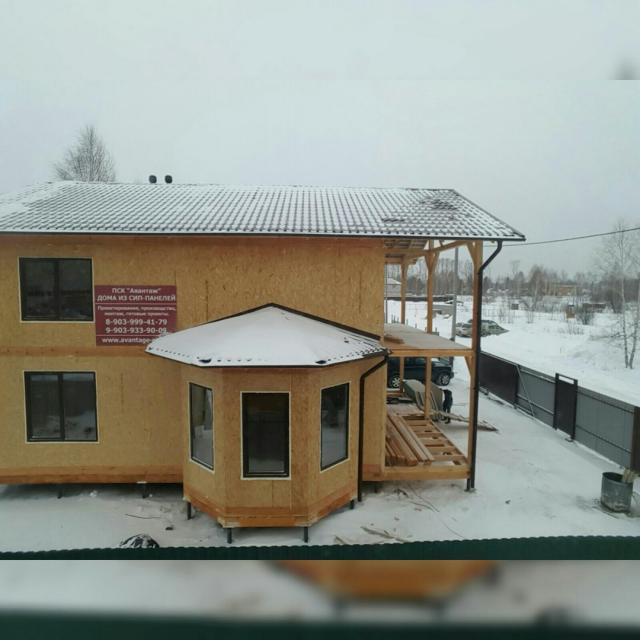 "Дом из СИП-панелей вг.Новосибирске. Компания ""Авантаж"""