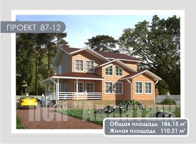 """Проект дома из СИП-панелей. Компания """" Авантаж"""". г.Новосибирск"""